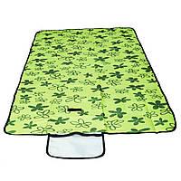 🔝 Коврик для пляжа, цвет - зеленый (145 х 80 см), коврик для пикника, коврик на пляж | 🎁%🚚