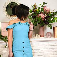Женское платье из натурального льна