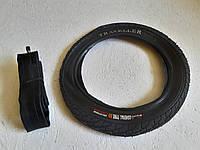 Покрышка на велосипед 12 дюймов в комплекте с Камерой Генерал Гладкая. Вело резина 12*2.125(57-203)