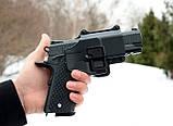 Страйкбольный пістолет Galaxy G25+ (точна копія Colt 1911 Rail) з кобурою, фото 5