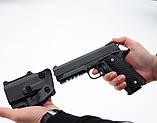 Страйкбольный пістолет Galaxy G25+ (точна копія Colt 1911 Rail) з кобурою, фото 6