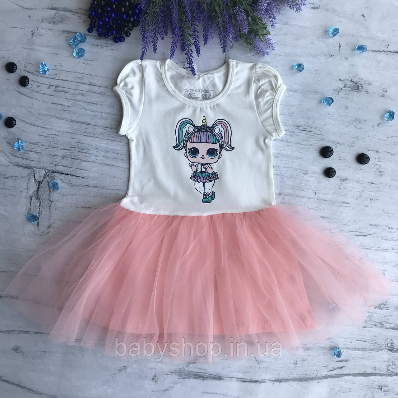 Летнее платье на девочку Breeze Лол 26. Размеры 104 см, 122 см