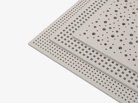 Плита перфорированная гипсовая звукопоглощающая Knauf Cleaneo 12/25 (квадратная перфорация ) 2.4 кв.м/лист