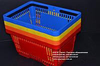 Корзинки покупательские. Пластиковые корзины. Корзины для покупателей. Корзинка для магазина. VKF Renzel Желтый, фото 1