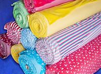 Ткань Интерлок (розовый, голубой, желтый, салатовый цвет) опененд