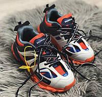 Balenciaga Track Orange Blue | кроссовки женские и мужские; синие-оранжевые; баленсиага трэк