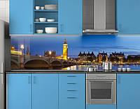 Пластиковый кухонный фартук ПВХ Мост и башня с часами, стеновые панели пластик скинали фотопечать, Мосты, фото 1