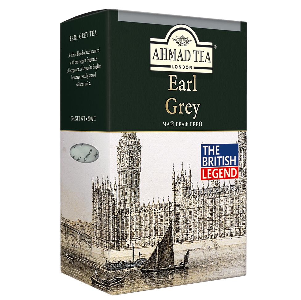 Чай Ахмад с бергамотом Граф Грей чёрный листовой 200 грамм