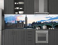 Пластиковый кухонный фартук ПВХ Лондонский мост Биг-Бен, стеновые панели пластик скинали фотопечать, Мосты, фото 1