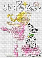 Набор для вышивания крестиком Маленькая балеринка. Размер: 9,5*14 см
