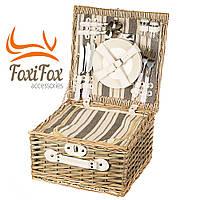 Набор для пикника подарочный в корзине