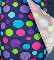 Ткань Оксфорд (Oxford) сумочно-рюкзачная в цветной горох