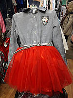 Стильное  платье на девочку подросток с пышной юбкой
