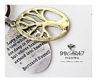 Подвеска с изображение древа на шнурке / серебристый / Китай, фото 1