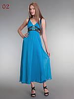 Женское платье шифон бирюза, фото 1
