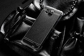 Чехол для Homtom S16 силикон бампер с рифленой текстурой черный