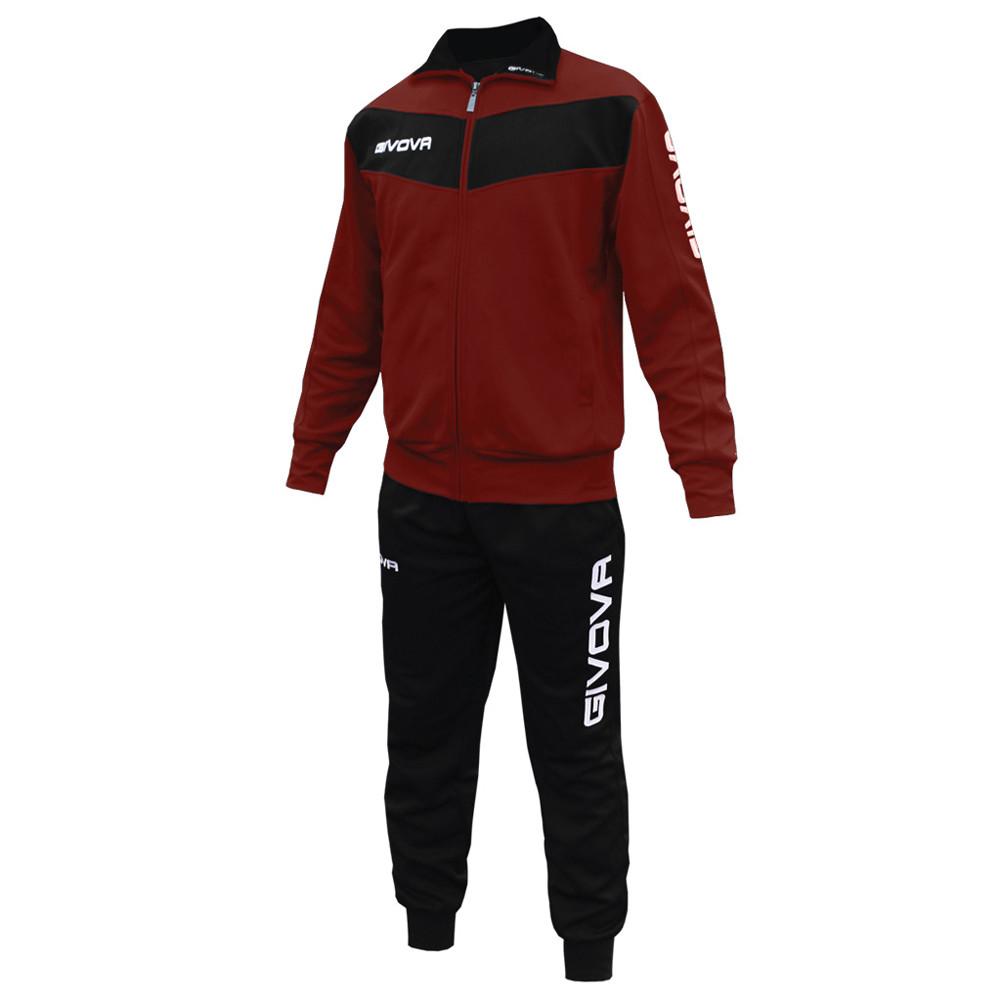 Детский спортивный костюм Givova Tuta Visa (Бордовый / черный) - Оригинал
