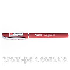 Ручка гелева Axent Autograph червона