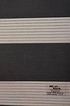 Рулонные шторы день-ночь черные BH-07
