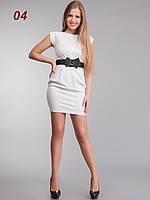 Платье трикотажное белое