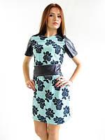 Женское платье с кожанным поясом