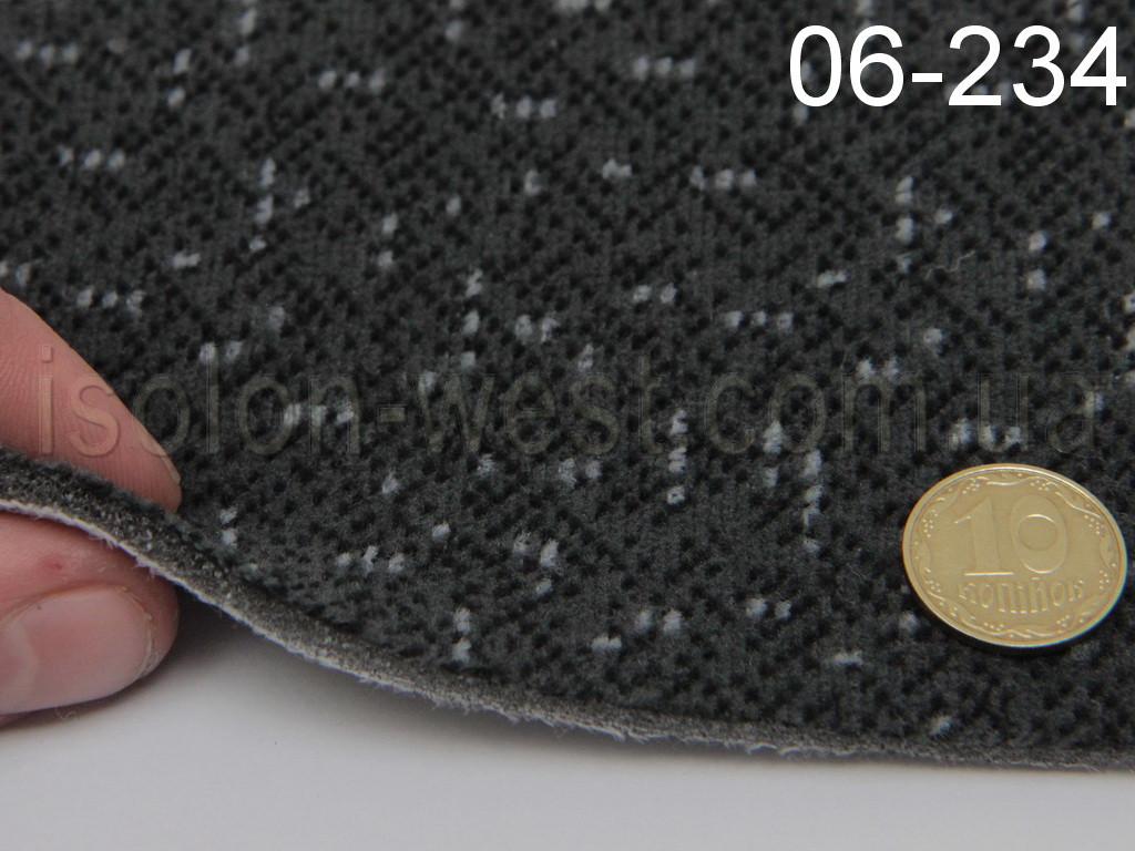 Ткань потолочная, серый цвет 06-234 на поролоне и сетке, ширина 1.80м