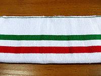 Резинка манжетная двойная с перегибом (белый с красной и зеленой полосой) (арт. 1640) остаток 1 шт.