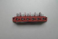 Клеммная колодка для электрической пушки / Гвинтова клемна колодка 6х40А/450V 6mm2 B15, 22 (4510.414)
