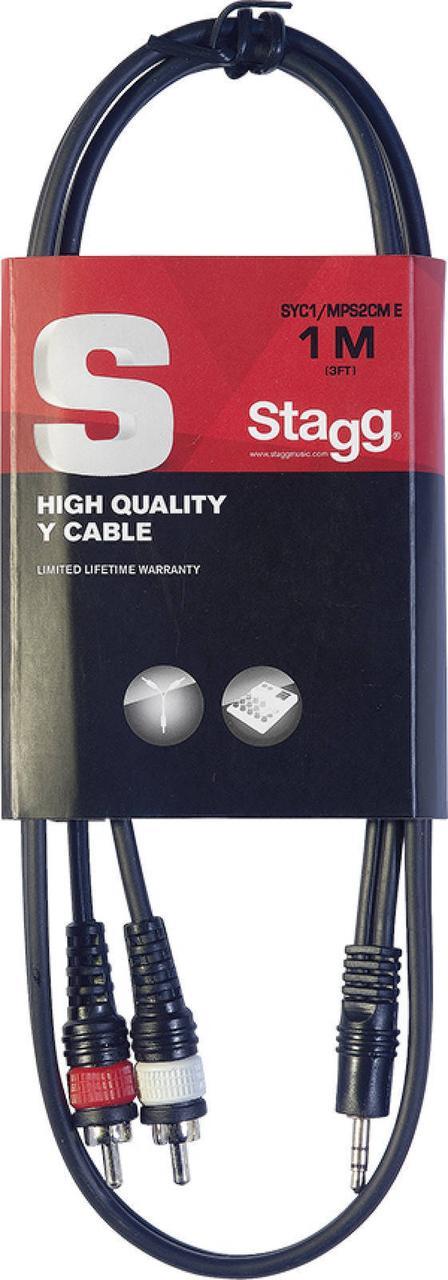 Інсертний кабель (1mini-jack-2RCA) STAGG SYC/1MPS2CM E (1m)