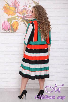 Повседневное платье большого размера (р. 48-90) арт. Полоска, фото 2