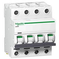 Автоматический выключатель iC60N 4P 10A C Schneider Electric (A9F79410), фото 1