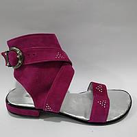 Женские кожаные босоножки Punto Bella 066 розовые