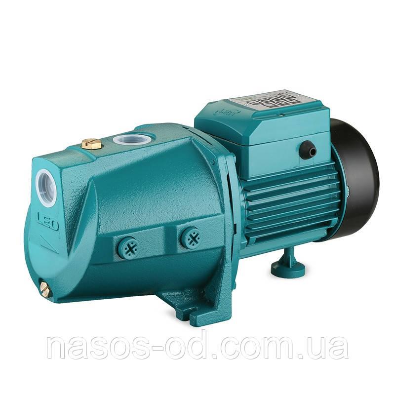 Насос центробежный поверхностный самовсасывающий Leo для воды 0.75кВт Hmax44м Qmax80л/мин (775323)