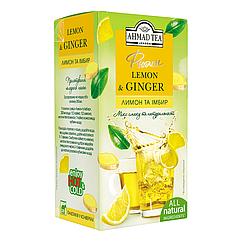 Ахмад Ти чай травяной пакетированный Фьюжн Лимон и имбирь 20 пакетиков