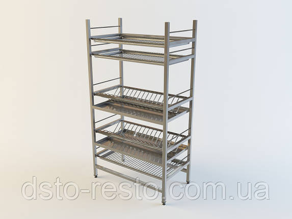 Стеллажи из нержавейки для посуды 900/320/1650 мм, фото 2