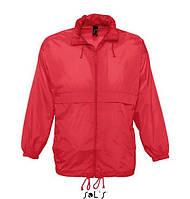 """Куртка-ветровка красного цвета  модель """"унисекс"""""""