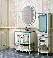 "Зеркало ""Флоренция 75"" ivory old + синяя патина"
