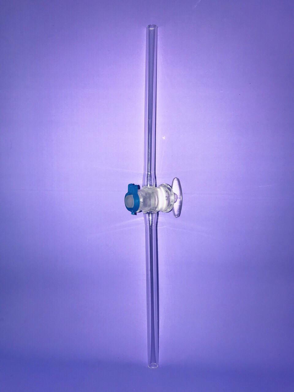 Кран стеклянный прямой д. 8 мм, (ТС)
