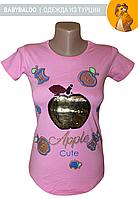 """Туніка паєтки """"Яблуко""""(від 5 до 8 років)"""