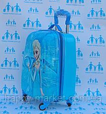 Чемодан детский дорожный качество Эконом ручная кладь для девочки Холодное Сердце-44см  0486-1\19-012-4, фото 3