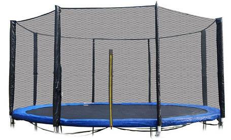Защитная сетка 12 фт 366-374 см, 8 столбиков, внешняя, фото 2
