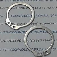 Кольца пружинные упорные плоские наружные эксцентрические по DIN 471 нержавеющие (А2, А4)