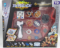 Набор блейдов Beyblade Battle Set (Блейды B122 Фафнир, B115 Геркулес, B117 Феникс, B118 Леопард + арена)