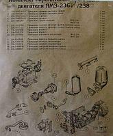 К/т  прокладок на двигатель ЯМЗ-236 (малый)