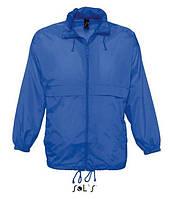 """Куртка-ветровка ярко-синего  цвета  модель """"унисекс"""""""