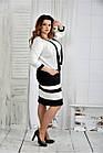 Черно-белый костюм 0435-1 (платье и жакет)большой размер, фото 6
