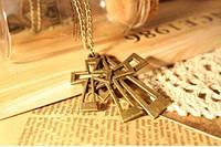 Кулон Кресты / золотистый метал / Китай