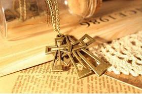 Кулон Хрести / золотистий метал / Китай