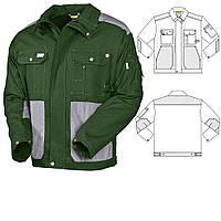 Куртка рабочая демисезонная  для ИТР зелёно-серая пошив под заказ