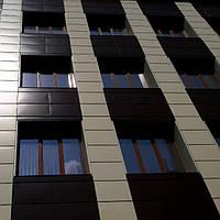 Кассеты фасадные Классик Италия RAL 3011 глянец 0,47мм 475*475